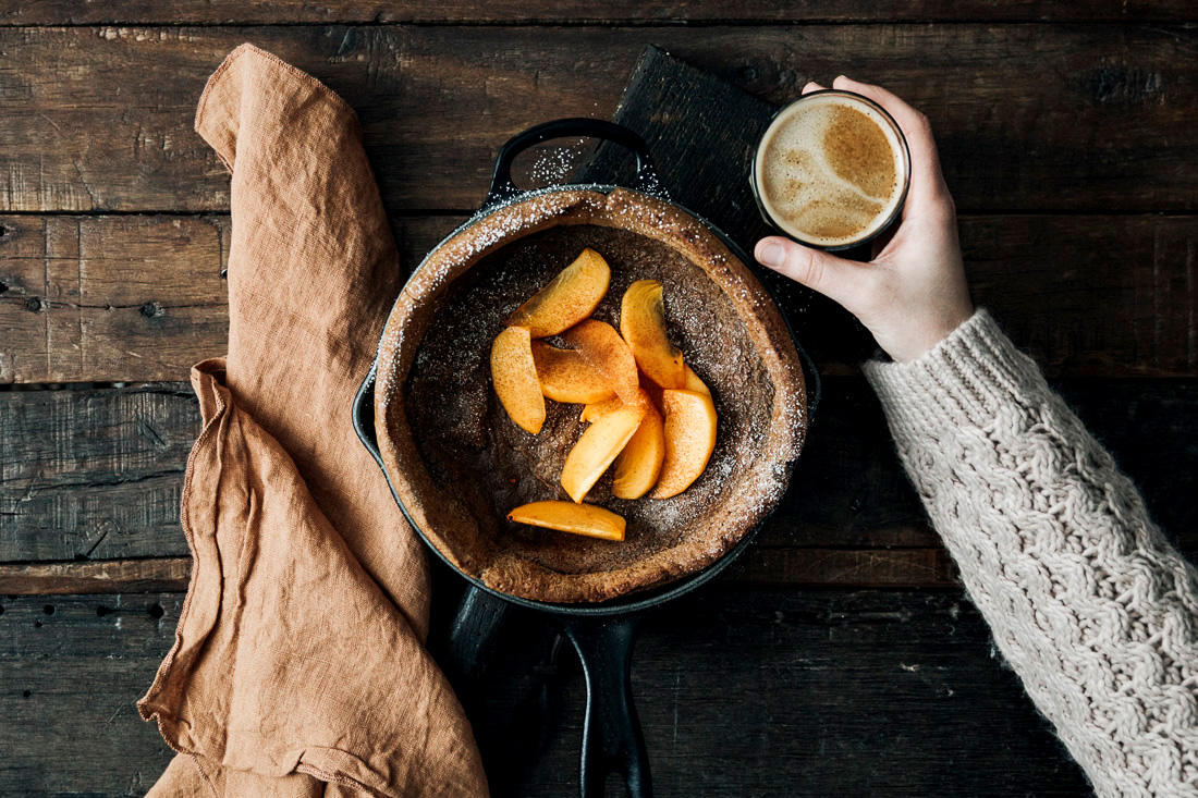 piroggi.com | Dutch Baby with Cardamom, Coffee & Persimmon