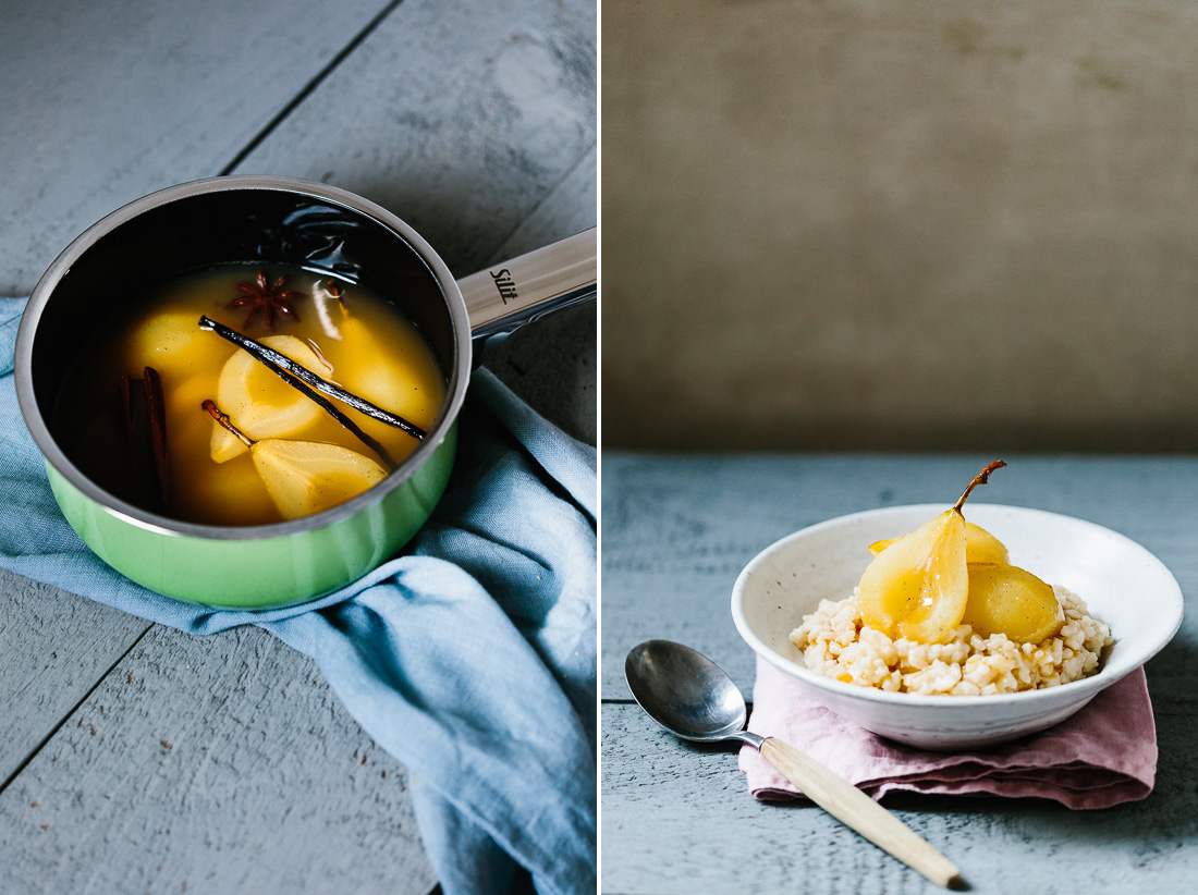 piroggi.com | Rice pudding with pear-ginger-apple-syrup