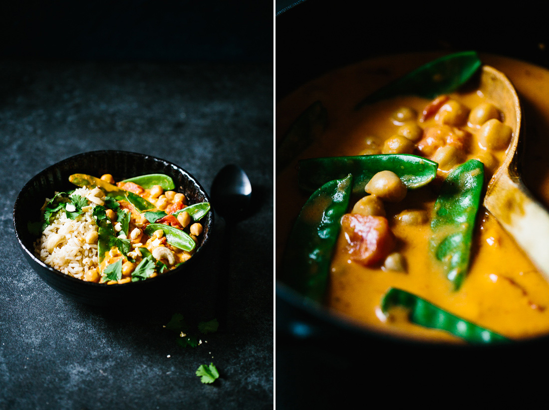 piroggi.com | Chana Masala - Chickpea Curry with Snap Peas