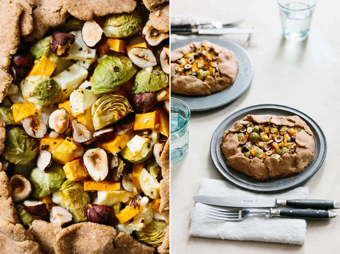 piroggi.com | Galette with brussel sprouts, sweet potatoe & apple